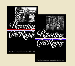 Photograph of Reporting Civil Rights volume covers